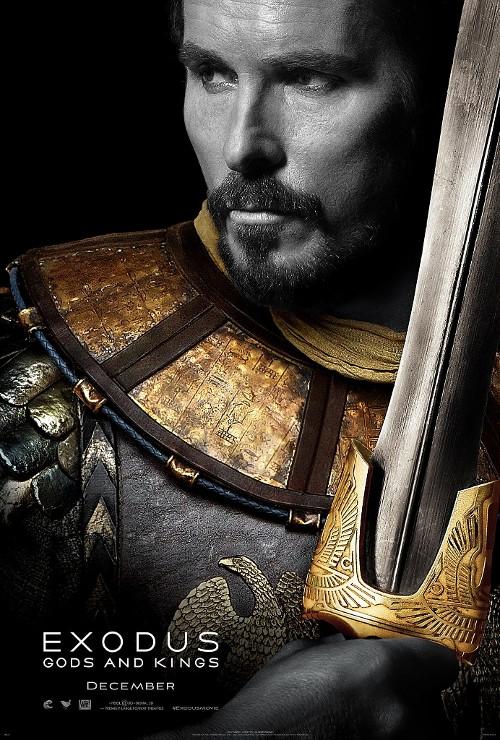 3 Posters for EXODUS: GODS AND KINGS with Christian Bale and Joel Edgerton