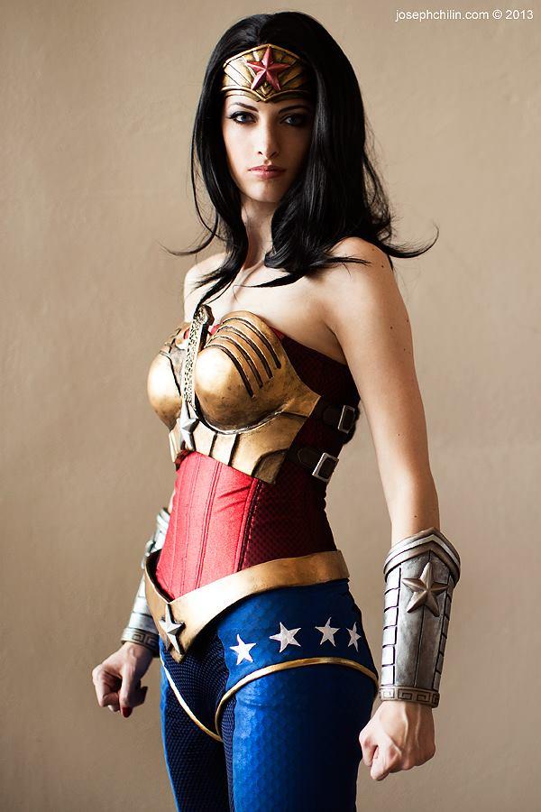 Katie Cosplays  is Wonder Woman