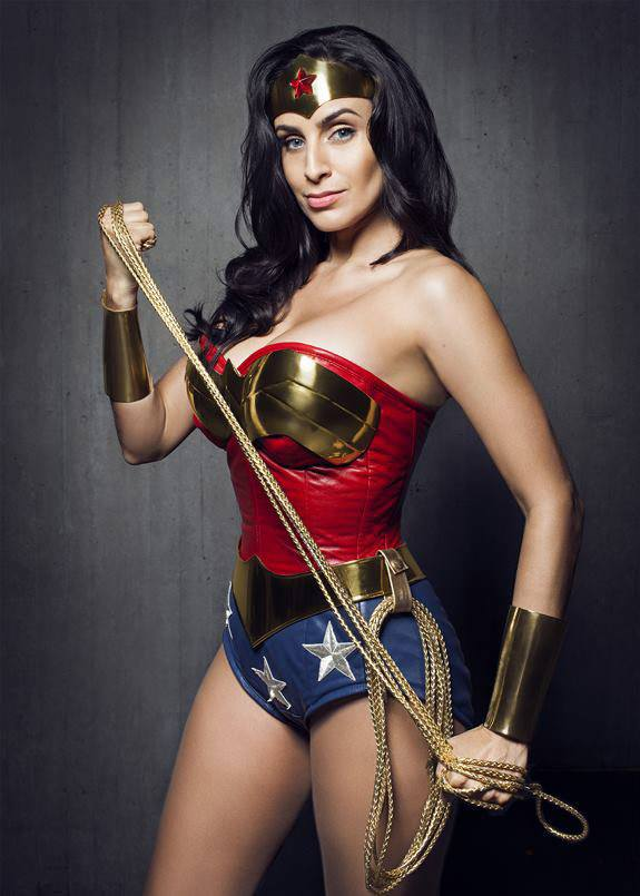 Valerie Pere z is Wonder Woman — Photo by  Colin Douglas Gray