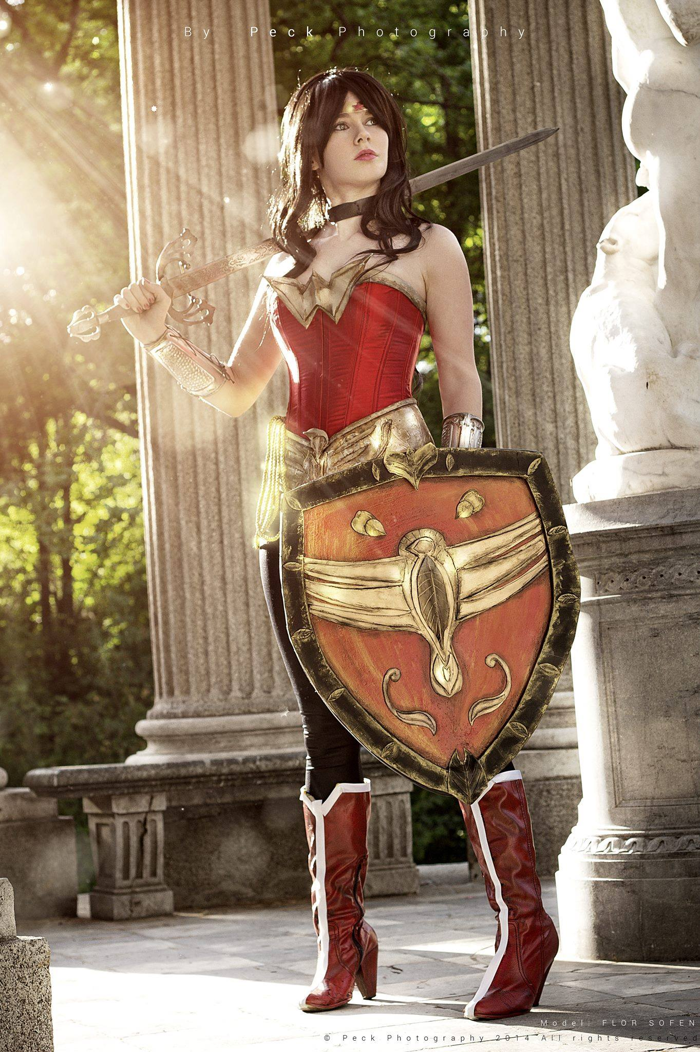 Florencia Sofen Muir  is Wonder Woman — Photo by  Peck Photography