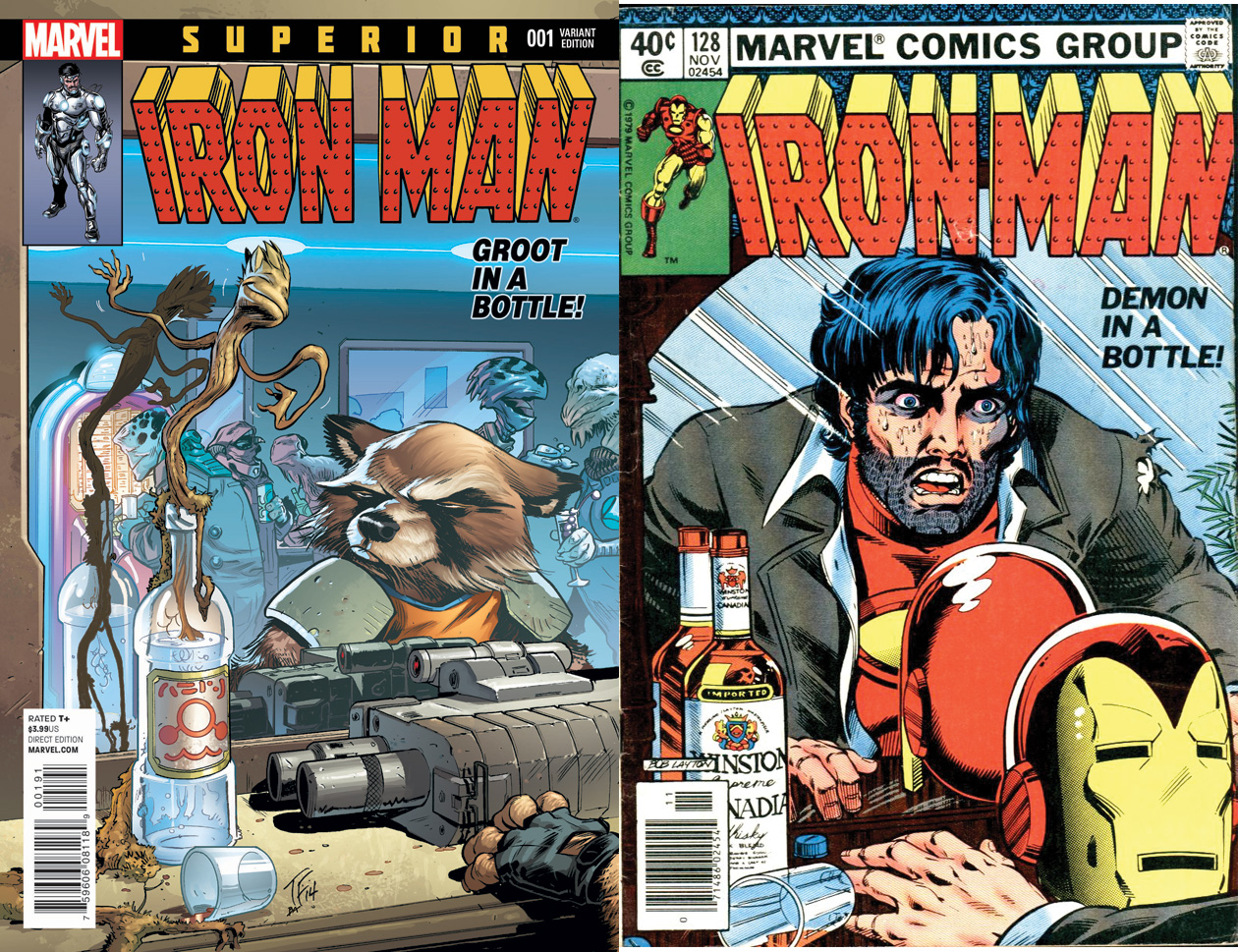 Superior Iron Man #1 variant by Tom Fowler