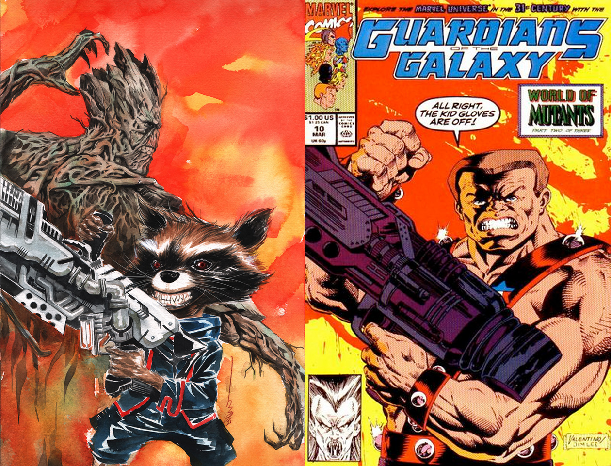 Guardians of the Galaxy #21 variant by Dustin Nguyen