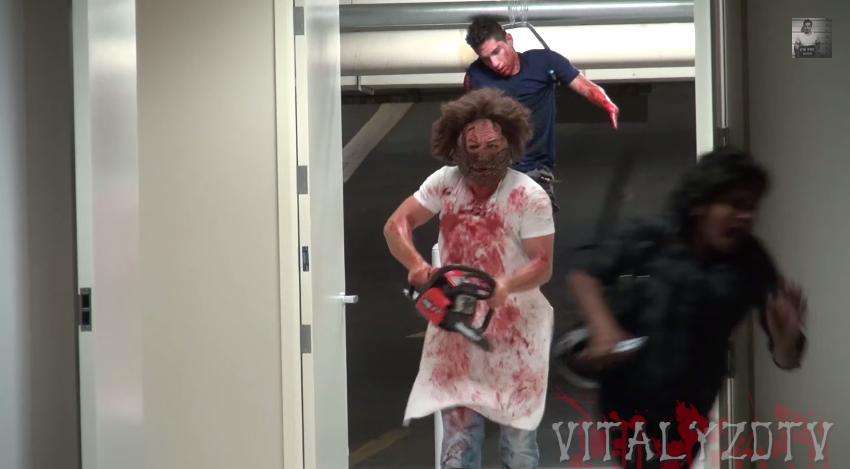 entertaining-chainsaw-massacre-halloween-prank