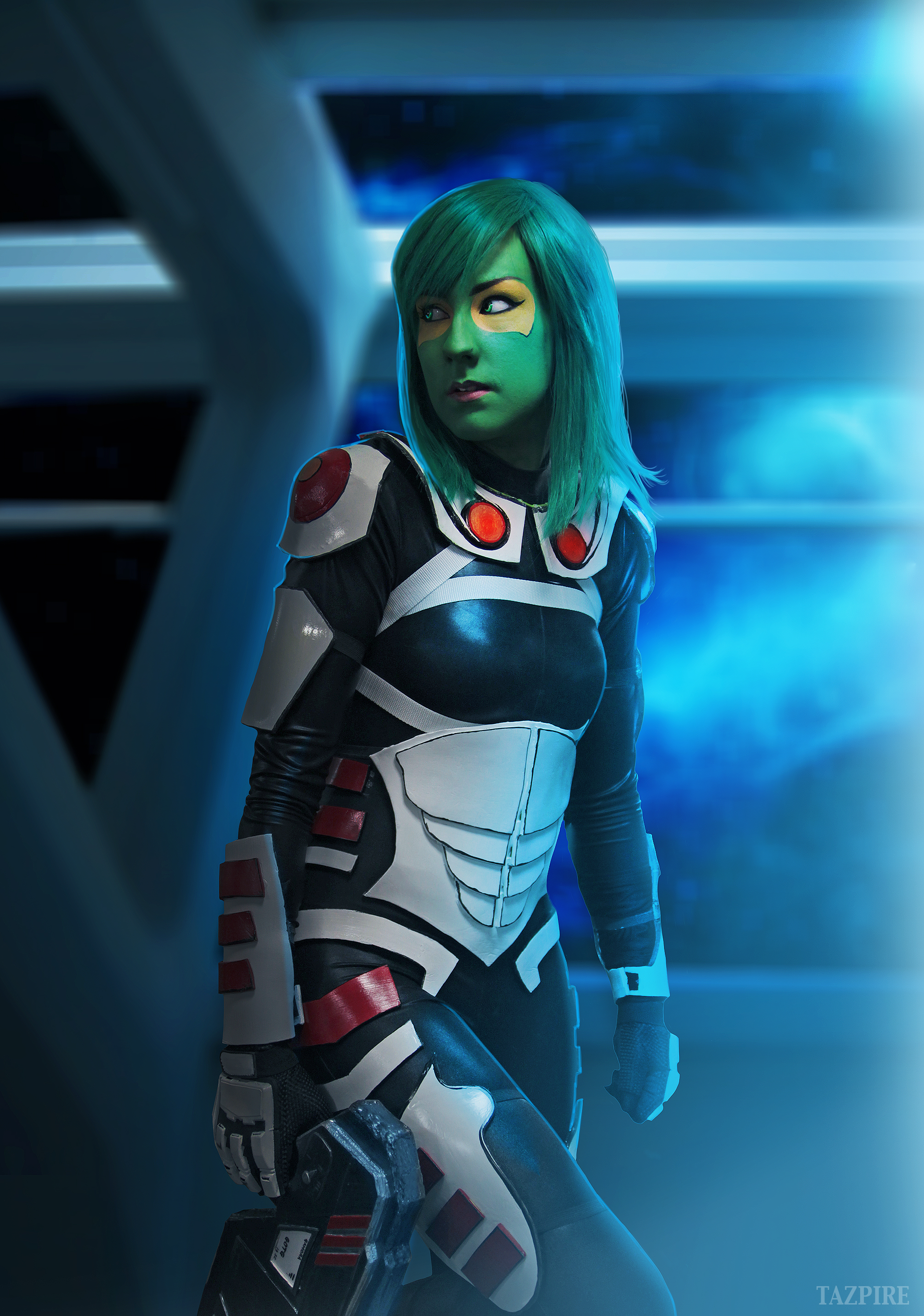SpiderCam Cosplay  is Gamora | Photo by:  CamraKaze