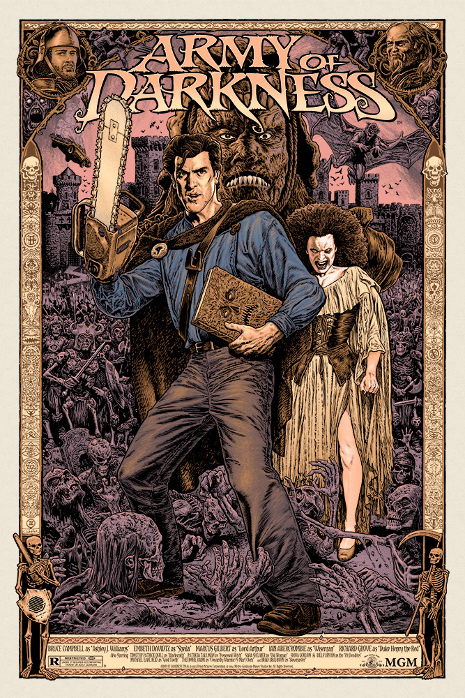 Groovy ARMY OF DARKNESS Poster Art by Chris Weston and Jeff Boyes — GeekTyrant