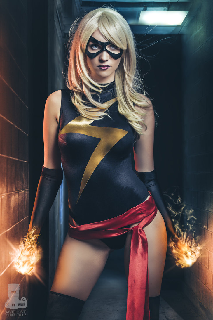 Heather 1337  is Ms. Marvel — Photo by  David Love