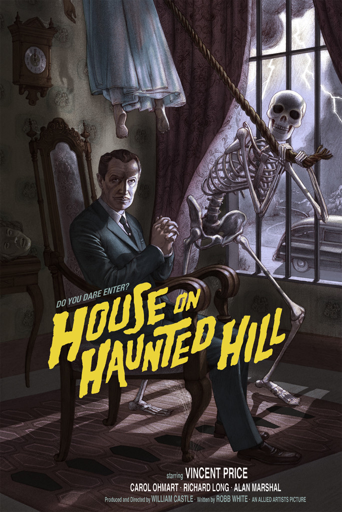 Mondo Poster Art For Vincent Price S House On Haunted Hill Geektyrant