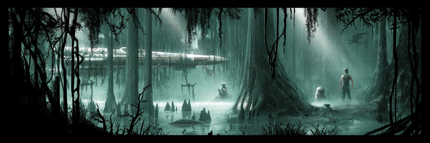 empire-strikes-back-dagobah-poster-by-jc-richard
