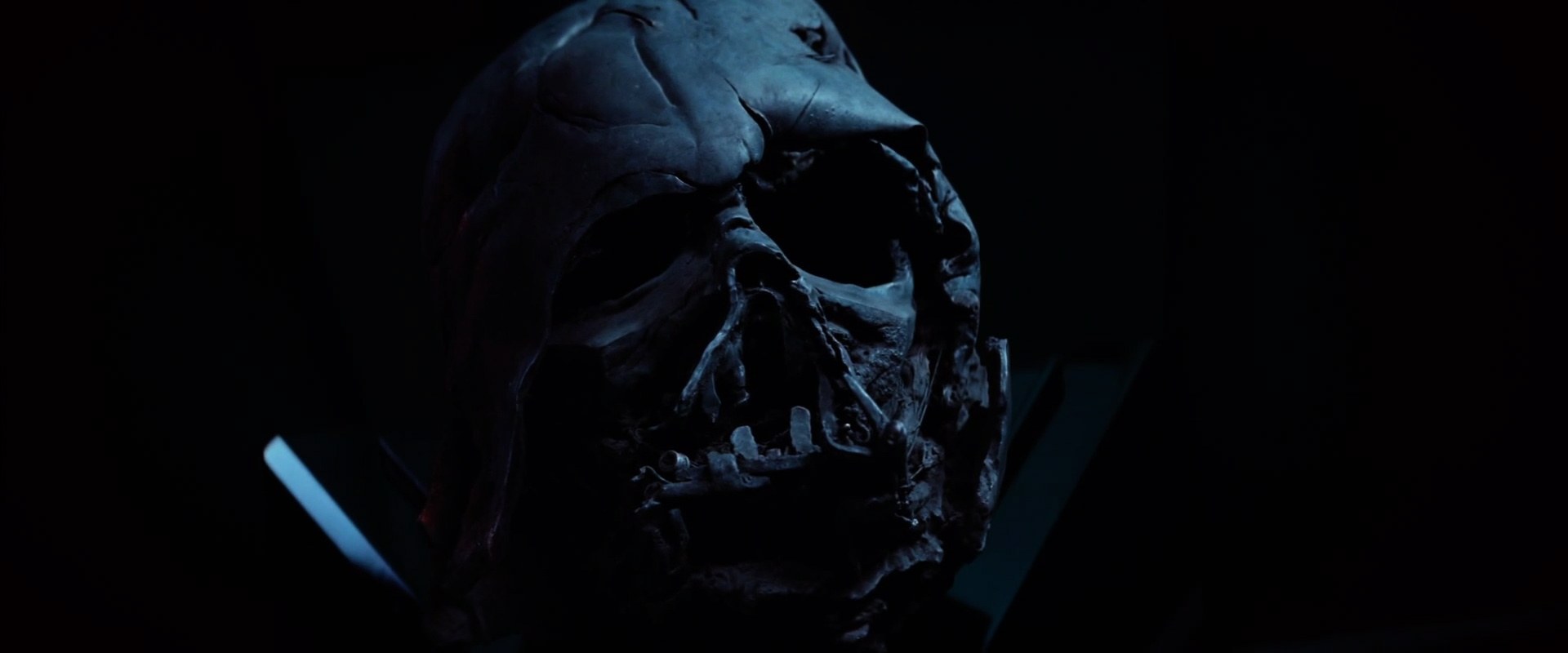 Darth Vader's melted helmet, as far as we can tell there is no skull inside. This looks a lot like the leaked concept art  from a few months ago.