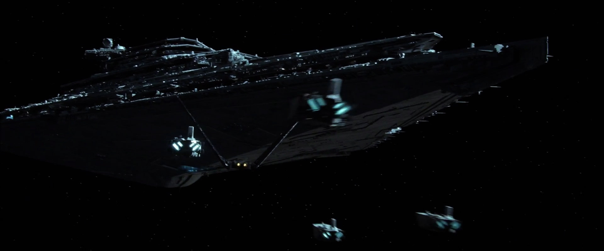 The First Order StarDestroyer and new troop transports.