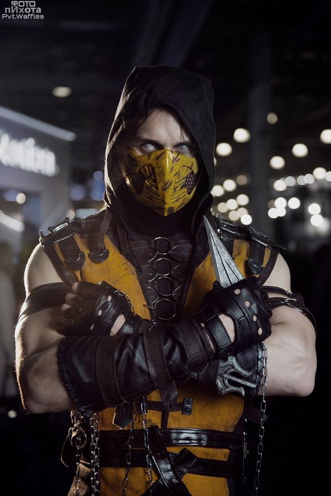mortal kombat x scorpion without mask