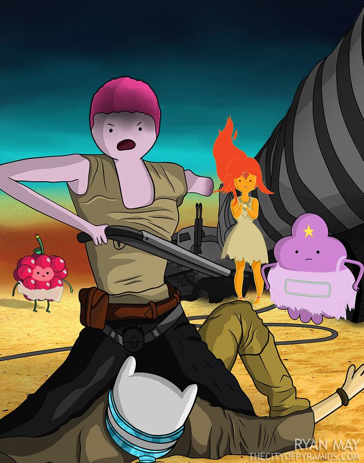 radical-mad-max-fury-road-and-adventure-time-mashup-art4