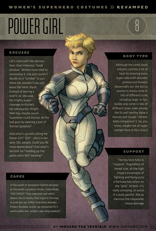Female Superhero Costumes Given Practical Redesigns — GeekTyrant