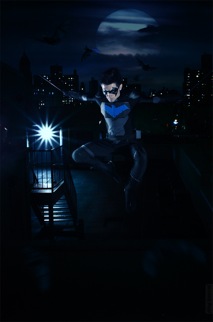 GraysonFin  is Nightwing   Photo by  UselessDevice