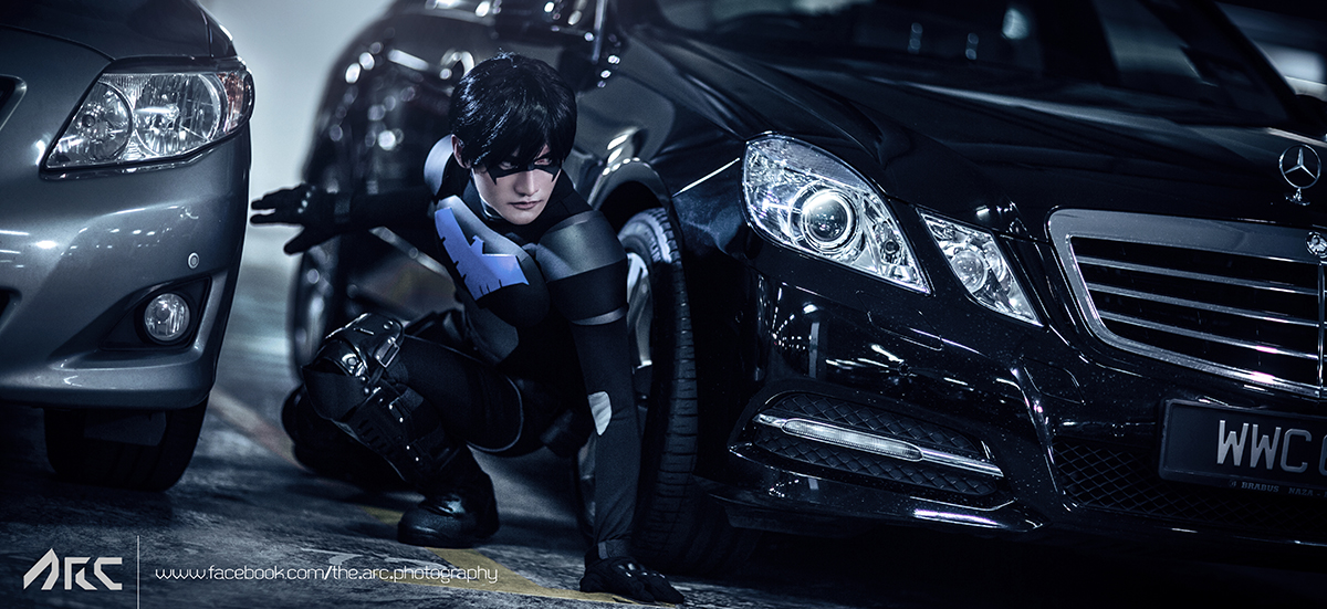 Liui Aquino  is Nightwing   Photo by  A.R.C. Photography