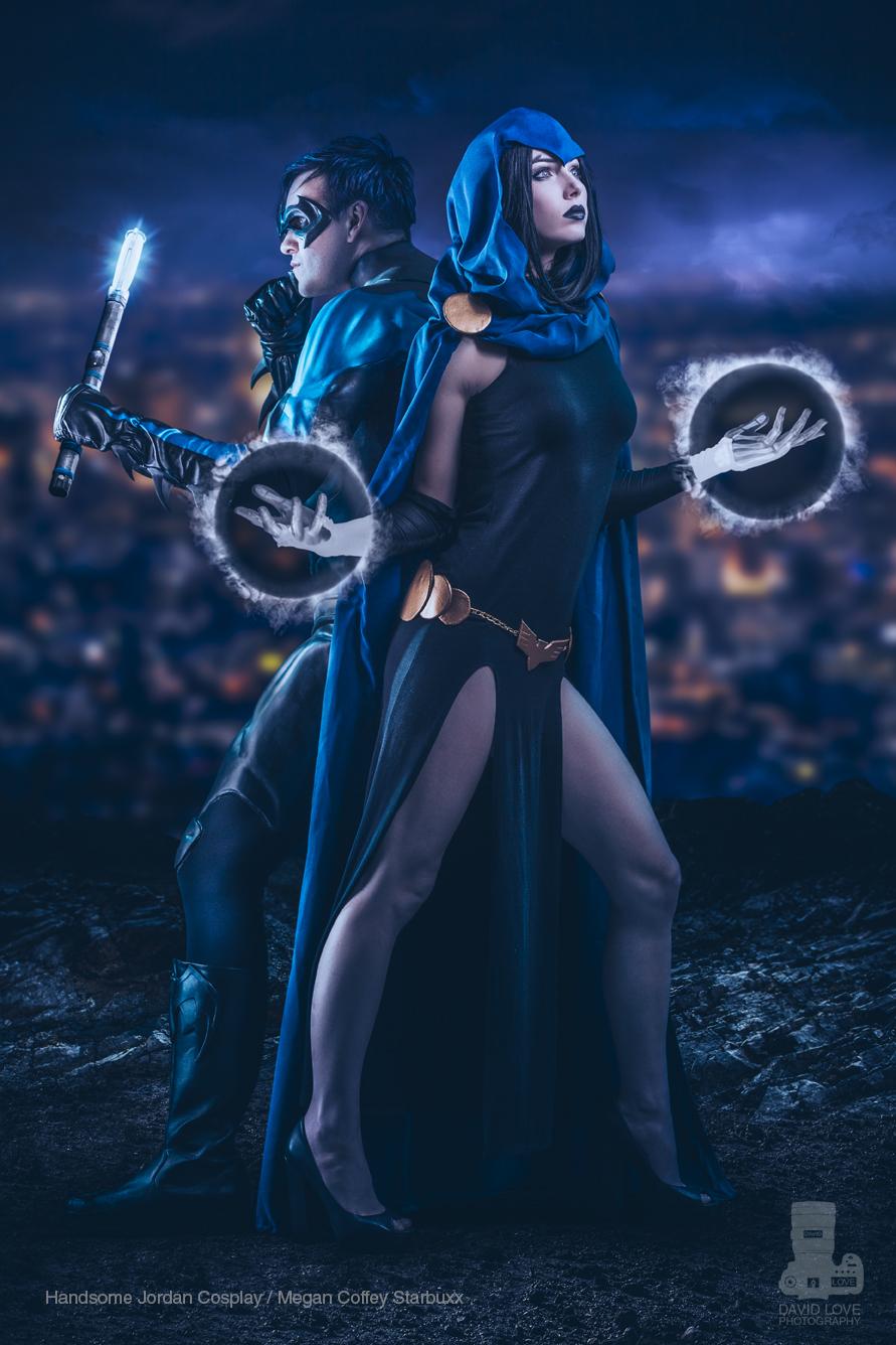 Handsome Jordan Cosplay  is Nightwing &  Megan Coffey Starbuxx  is Raven   Photo by  David Love Photography