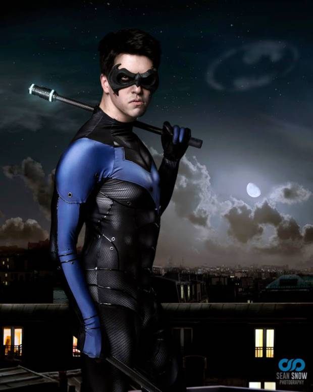 Nathan DeLuca  is Nightwing   Photo by  Sean Snow Photography