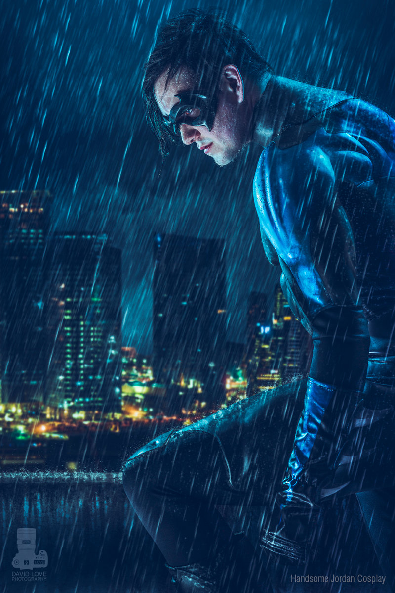Handsome Jordan Cosplay  is Nightwing   Photo by  David Love Photography