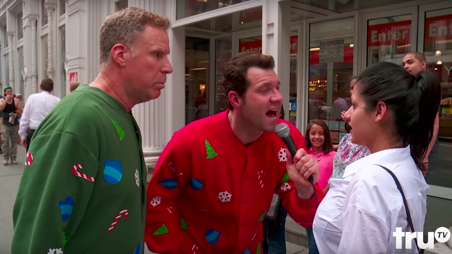 Will Ferrell Christmas Movie.Will Ferrell And Billy Eichner Surprise New Yorkers With