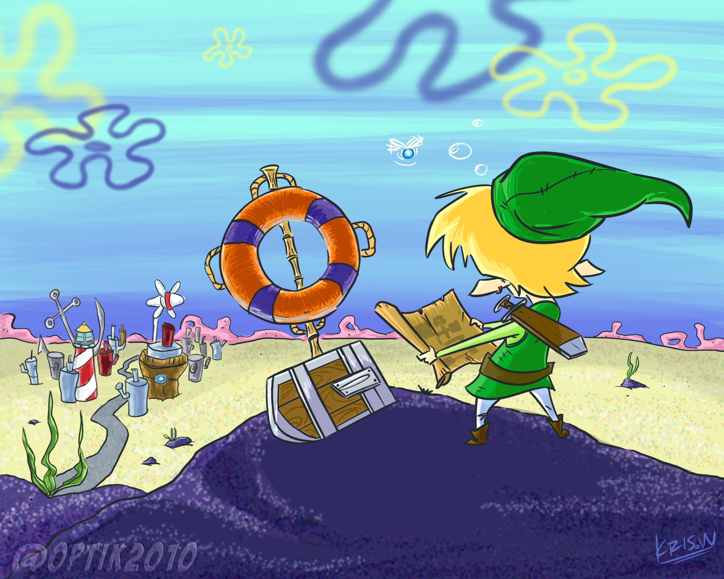 Legend Of Zelda S Link Ends Up In Bikini Bottom And Mordor