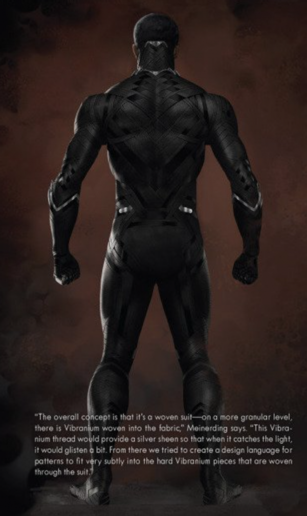 Details on Black Panther's Costume in CIVIL WAR with Concept