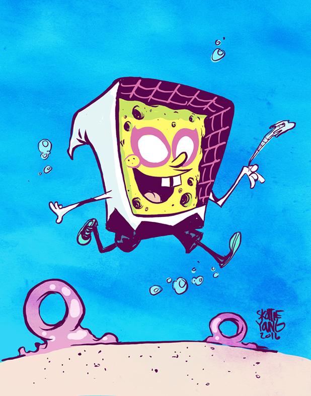 spongebob-and-spider-gwen-character-mashup-gwenbob-squarehoodie