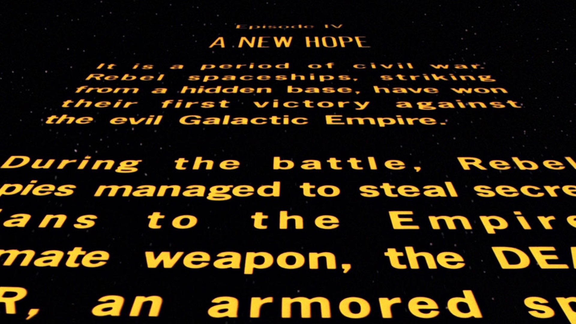 The Classic Star Wars Opening Crawl May Not Be In The Standalone Films Geektyrant