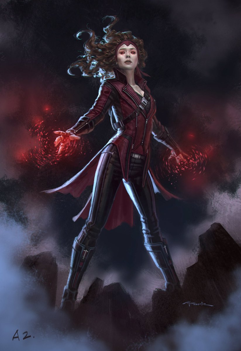 Scarlet Witch Sports Her Headband In New Concept Art For Captain