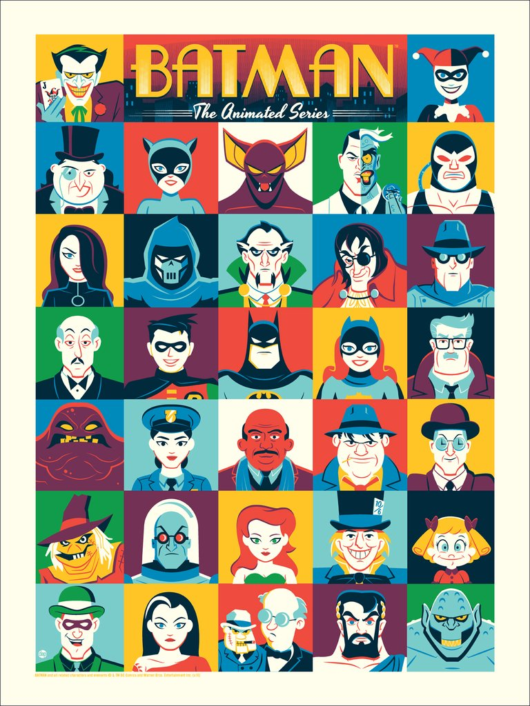 "Batman: The Animated Series by Dave Perillo 18""x24"" Screen Print, Edition of 225  Printed by D&L Screenprinting  $40"