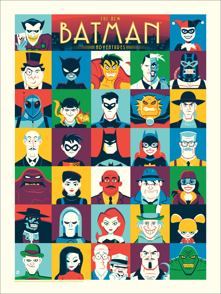 "The New Batman Adventures by Dave Perillo 18""x24"" Screen Print, Edition of 225  Printed by D&L Screenprinting  $40"