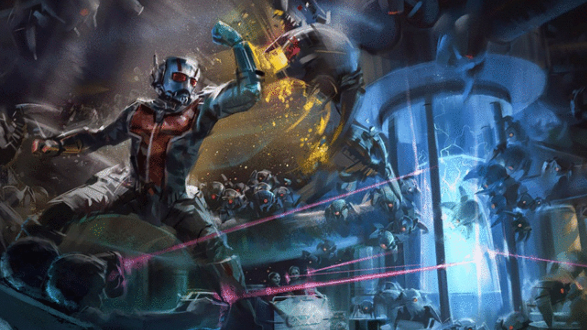 Concept Art For A New Ant Man Disney Attraction In