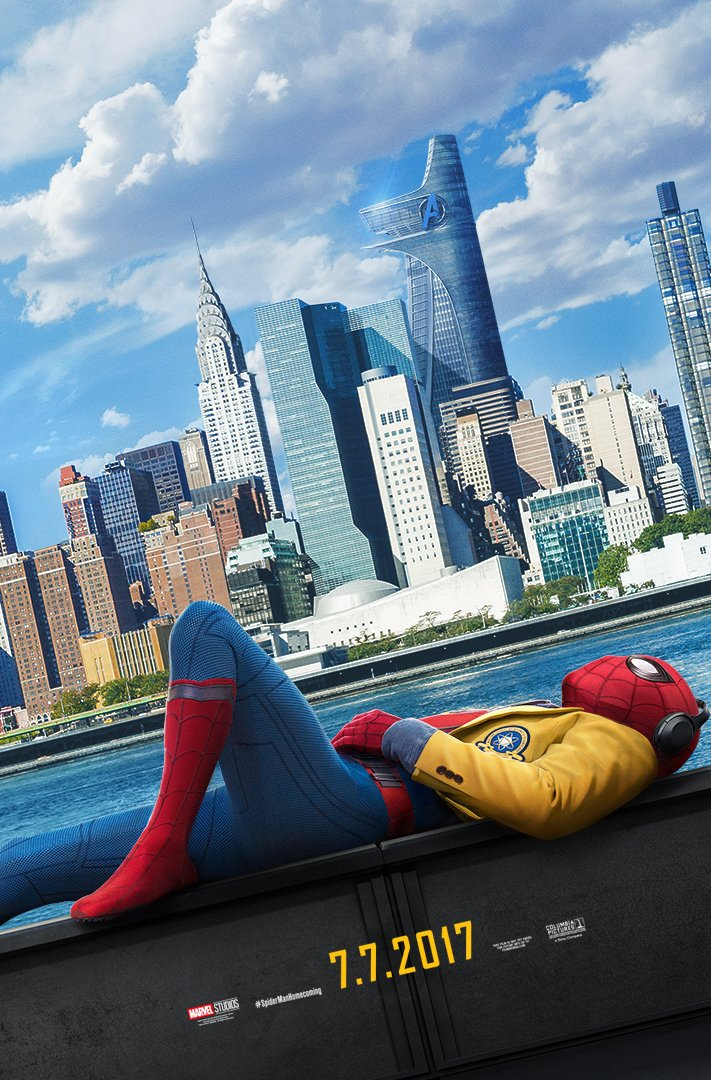 new-spider-man-homecoming-poster-features-spider-man-kickin-it-in-nyc