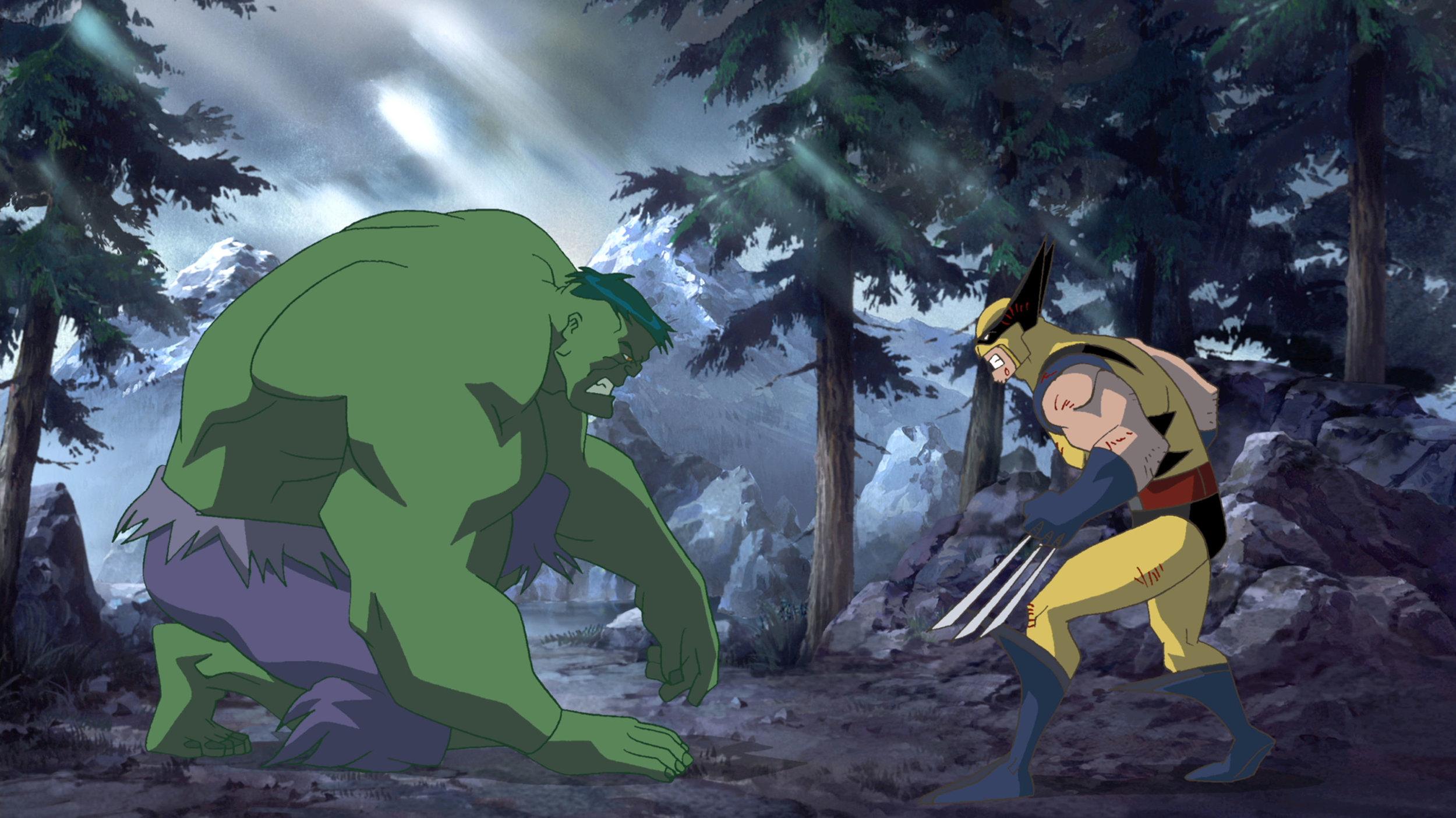 Cool Storyboard Art For Marvel's HULK VS. WOLVERINE Animated Film —  GeekTyrant
