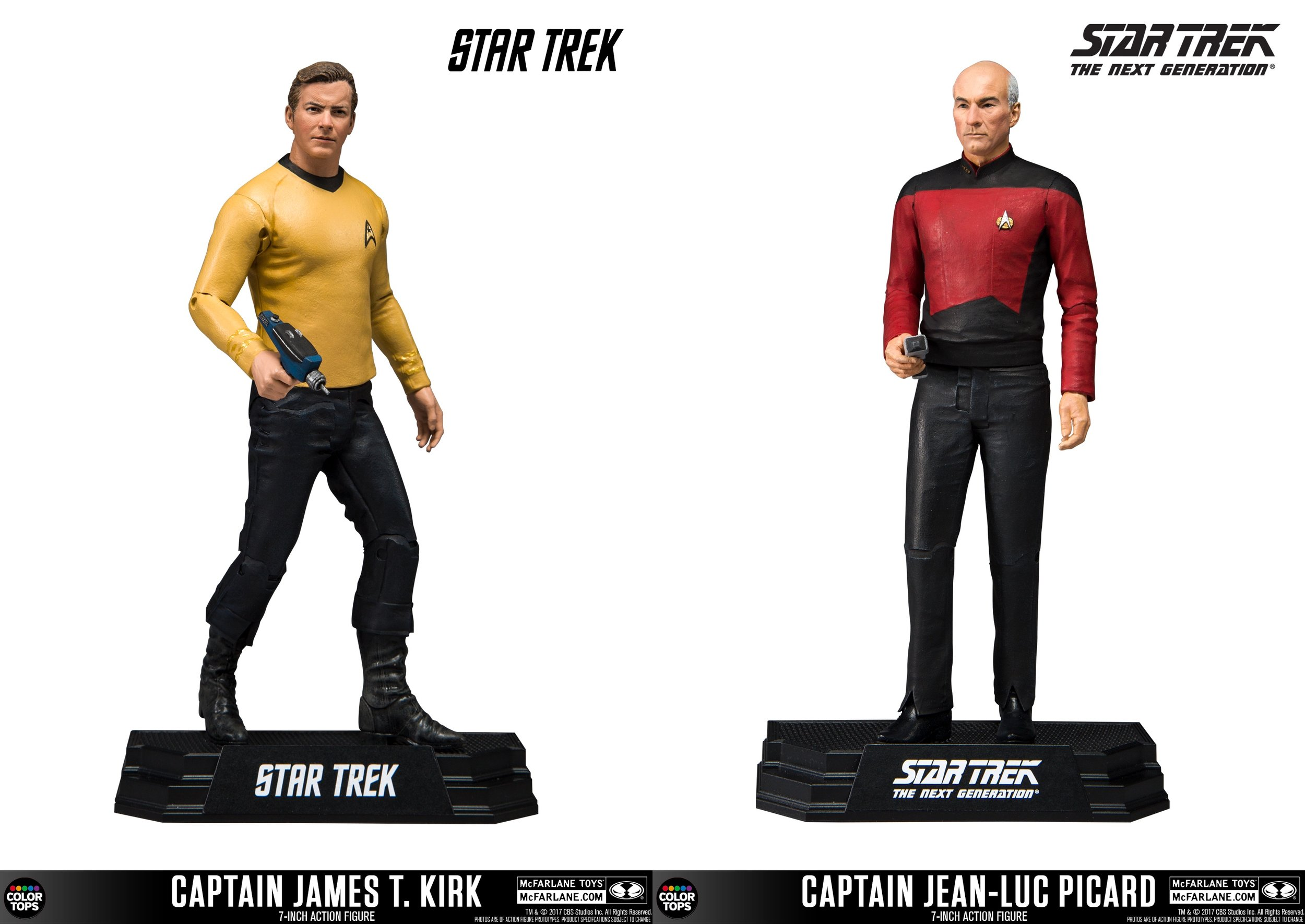 McFarlane Toys Captain Kirk and Captain Picard Star Trek Action Figures Set of 2