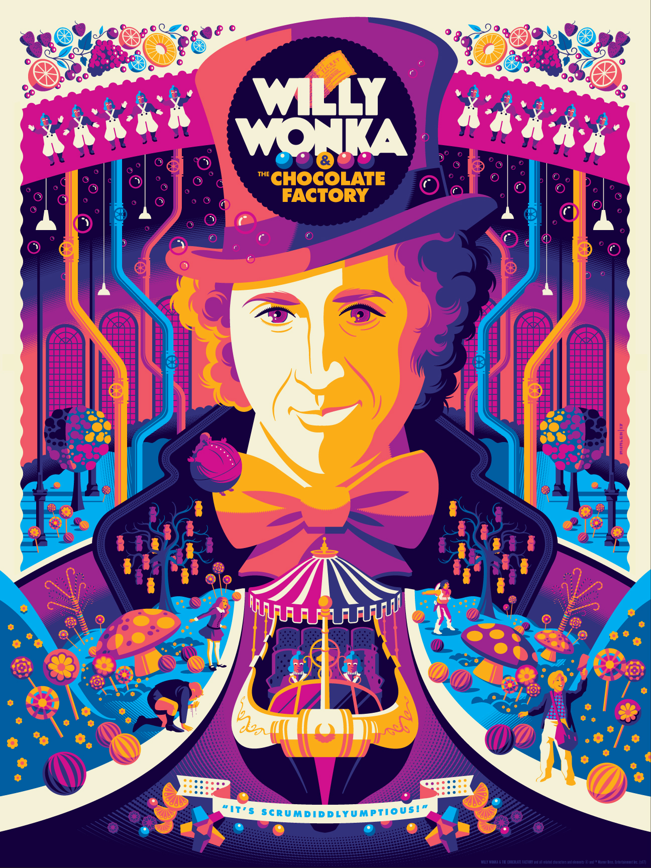 this-willy-wonka-and-the-chocolate-factory-poster-art-is-a-colorful-explosion-of-pure-imagination1