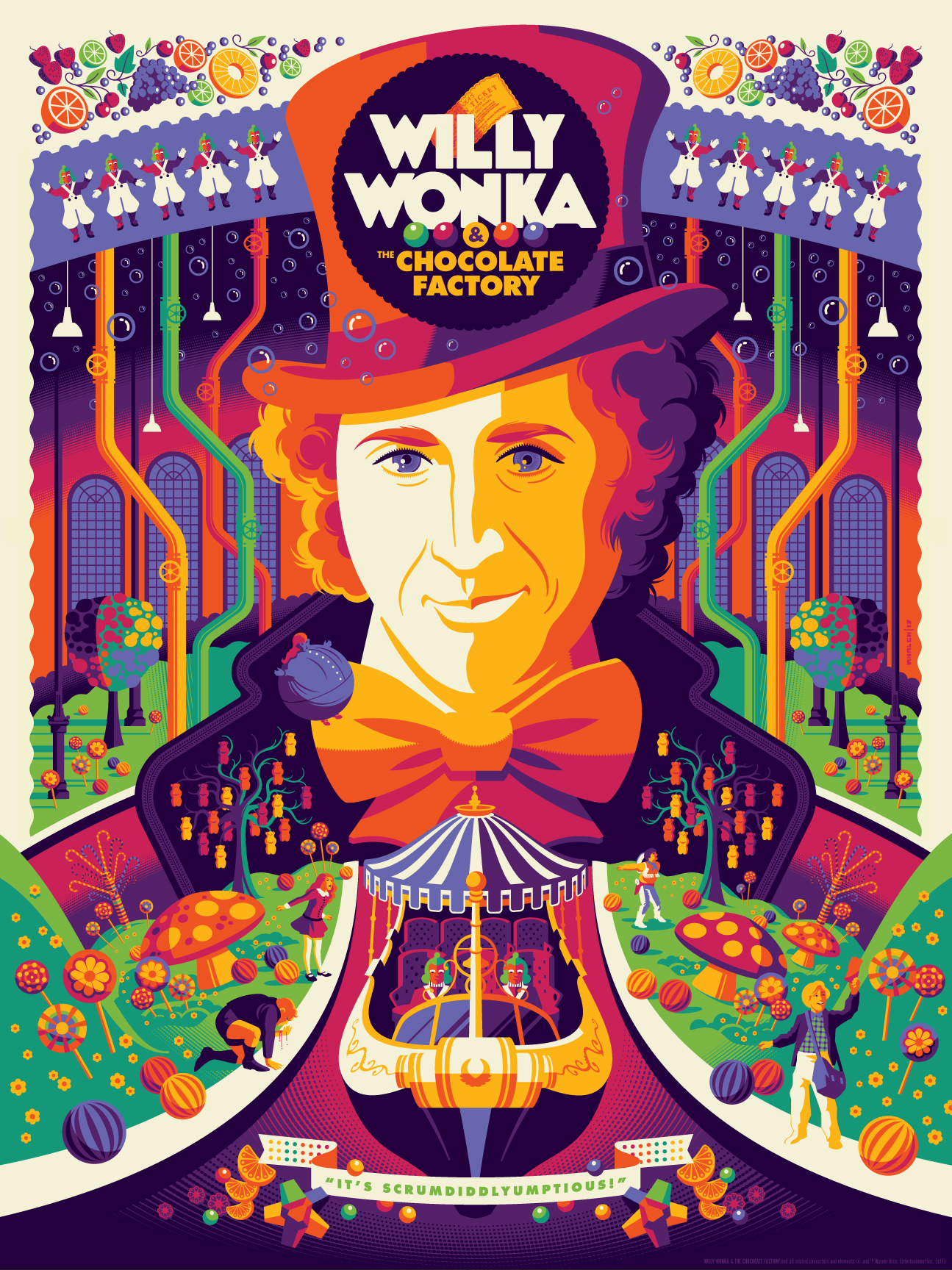 this-willy-wonka-and-the-chocolate-factory-poster-art-is-a-colorful-explosion-of-pure-imagination5