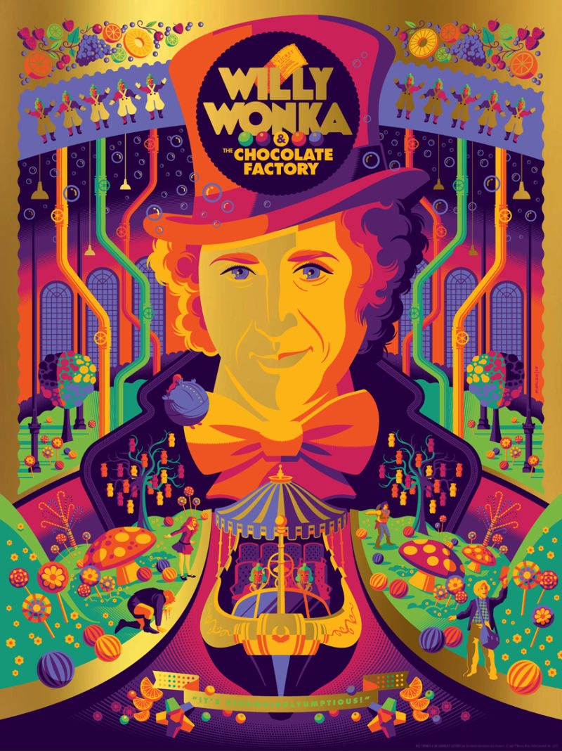 this-willy-wonka-and-the-chocolate-factory-poster-art-is-a-colorful-explosion-of-pure-imagination7
