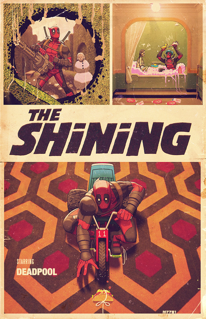 Deadpool and THE SHINING Get a Cool Piece of Crossover Art ...