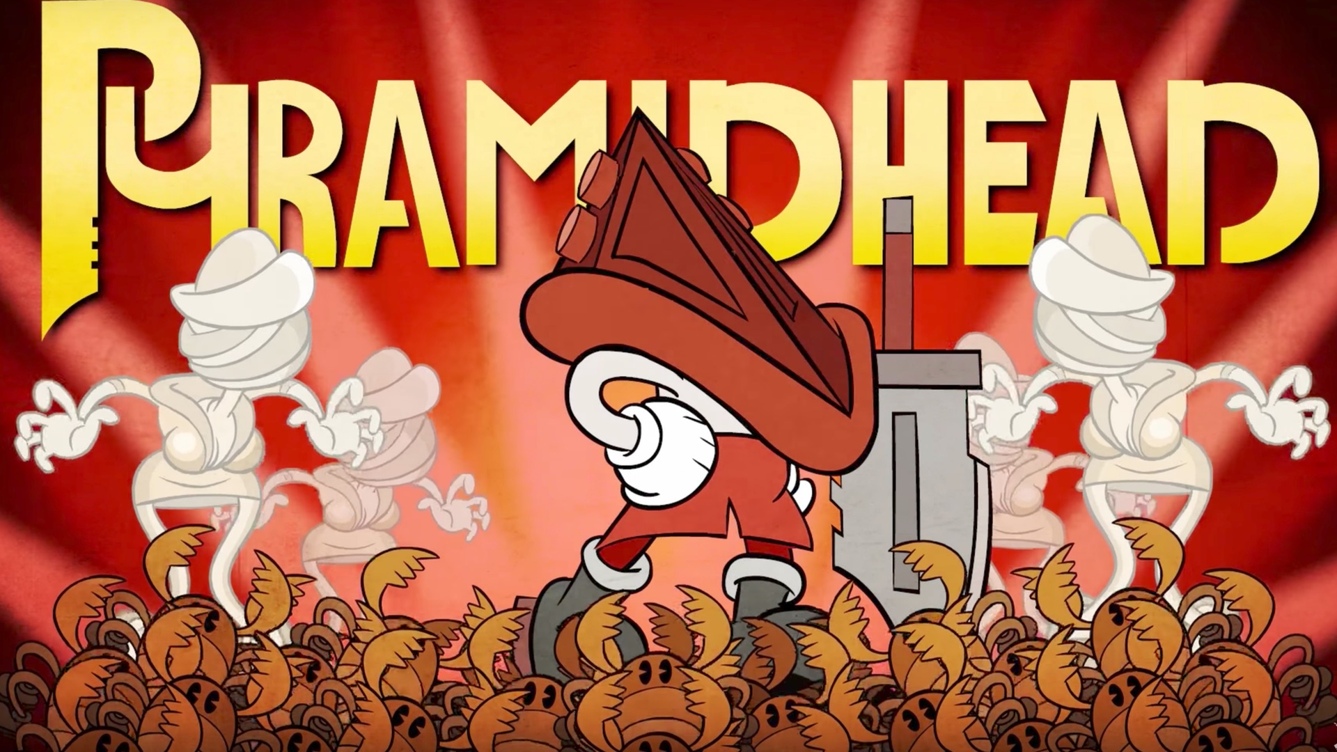 Cuphead Cosplays As Pyramid Head In This Awesome Animated Silent