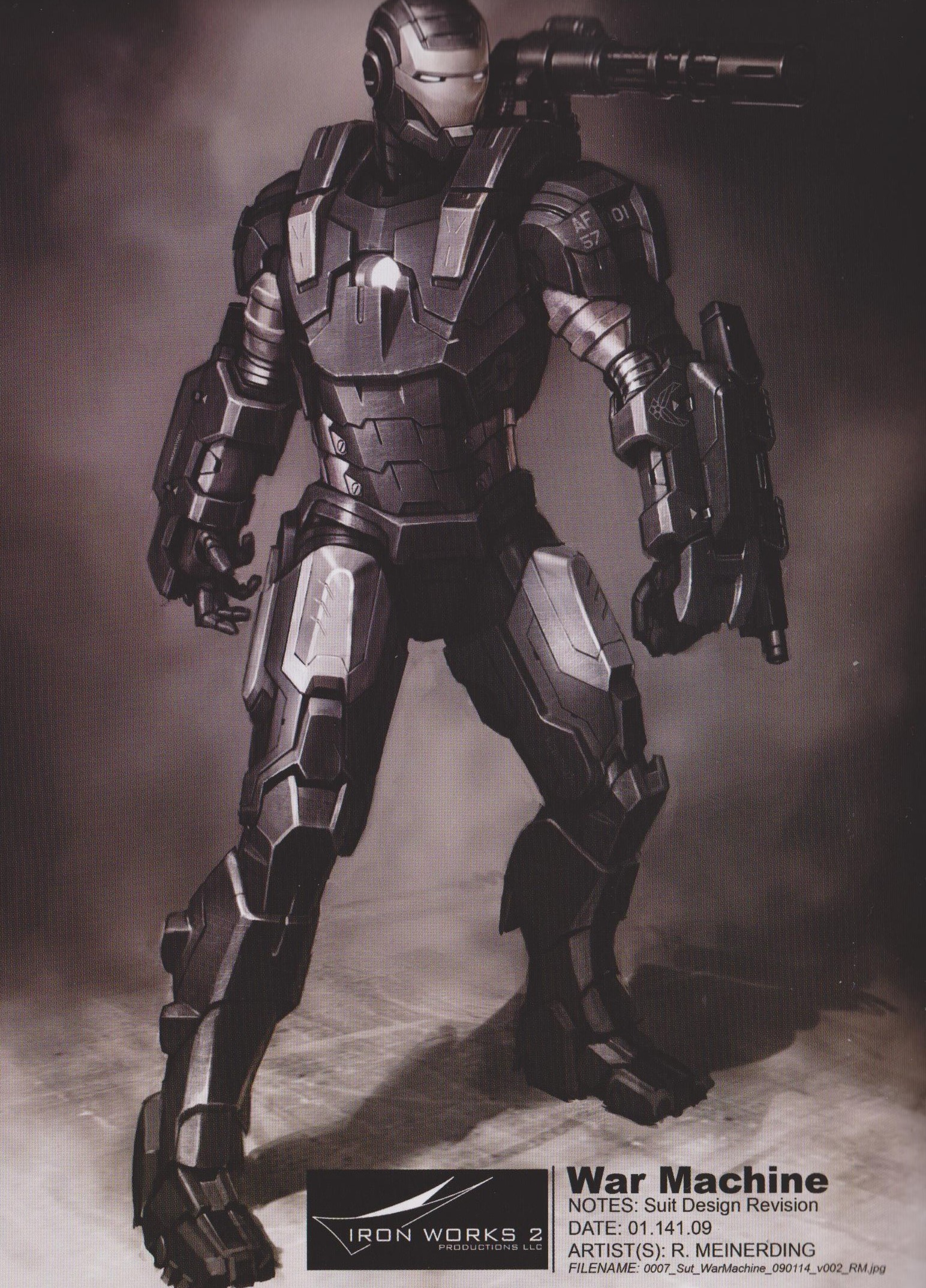Early Concept Art For IRON MAN 2 Shows Early Designs For
