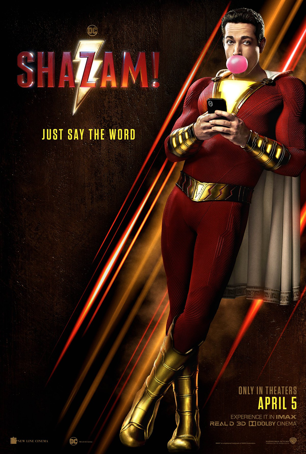 New Poster For SHAZAM! Asks Us To Just Say The Word1