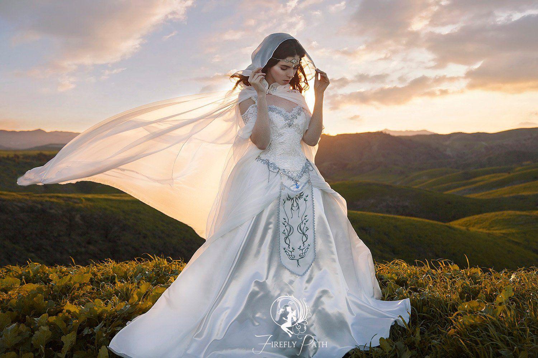 Zelda Wedding Dress.The Legend Of Zelda Inspired Wedding Dress Is Beautiful