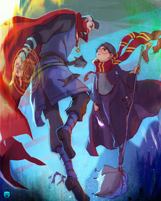 Dr  Strange and Harry Potter Face Off in Cool Fan Art