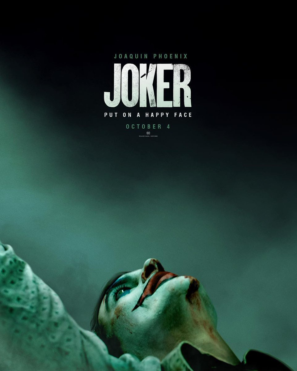First Poster For DC's JOKER and The Trailer is Coming Tomorrow!1