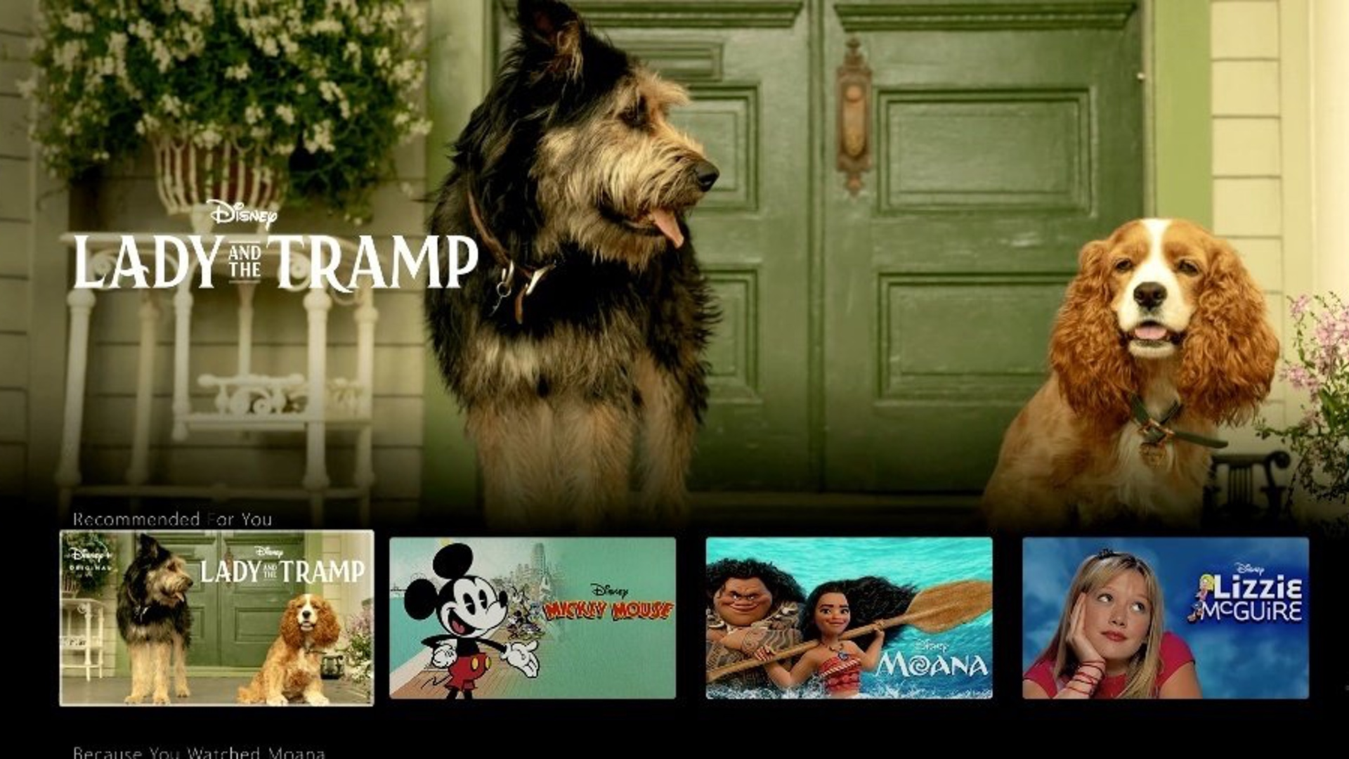 First Look At The Disney Interface Offers First Image Of Lady And The Tramp And Falcon Winter Soldier Logo Geektyrant