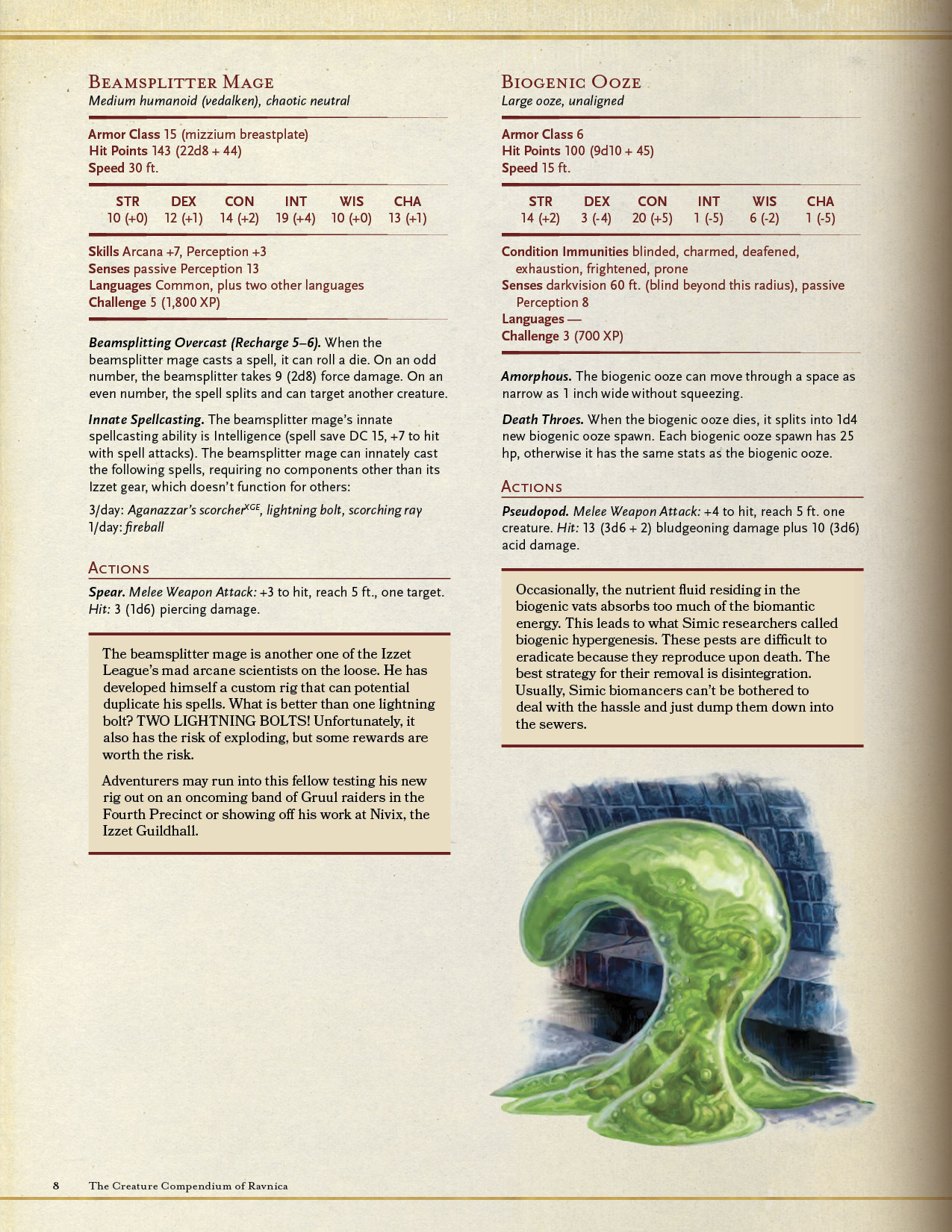 THE CREATURE COMPENDIUM OF RAVNICA Gives Details for Including Over