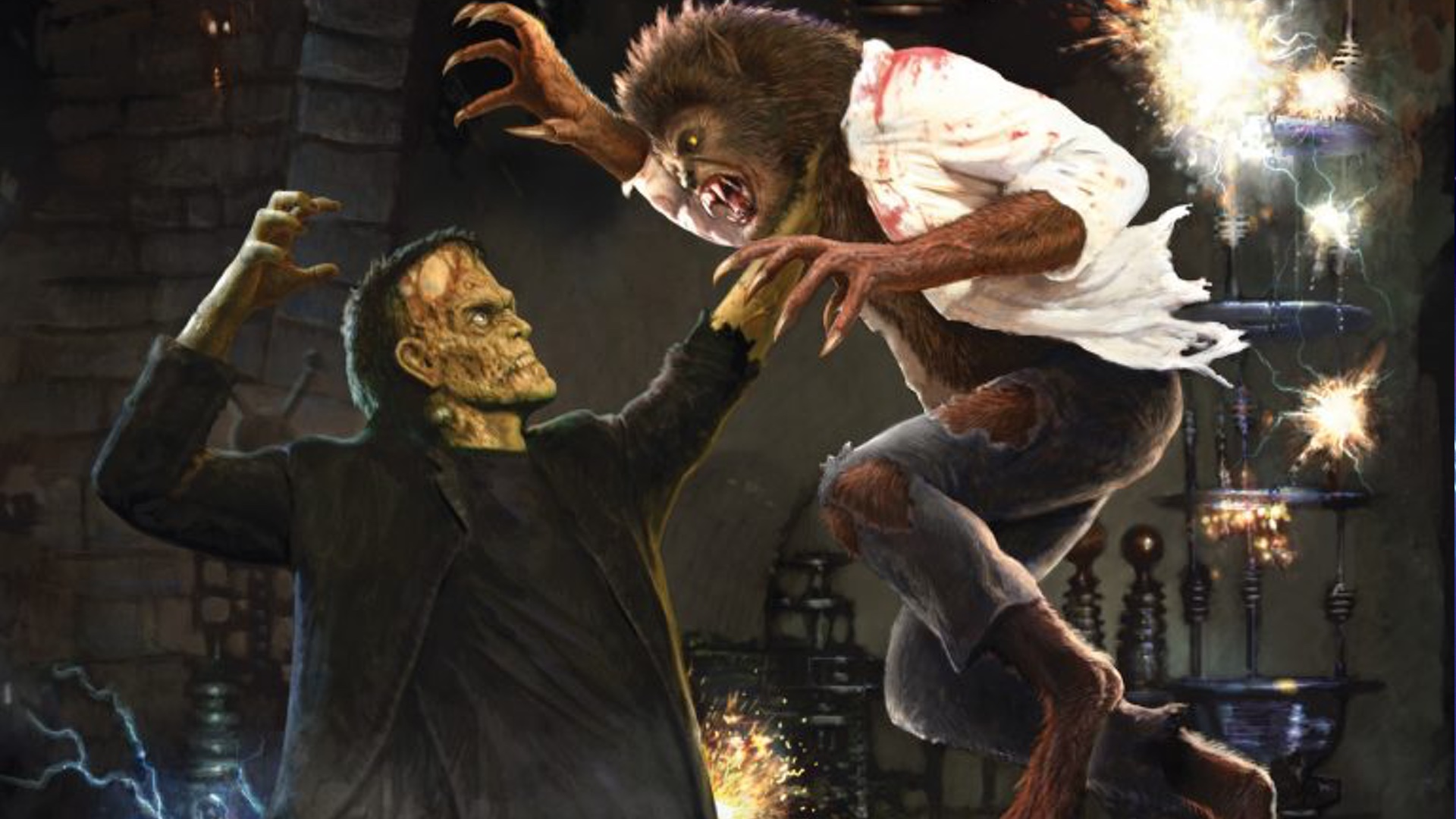 Frankenstein Meets The Wolfman And Other Universal Monster Themed