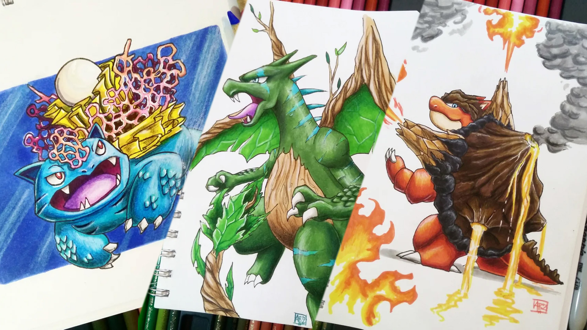 Check Out this Incredible POKEMON Fan Art That Plays with the Types