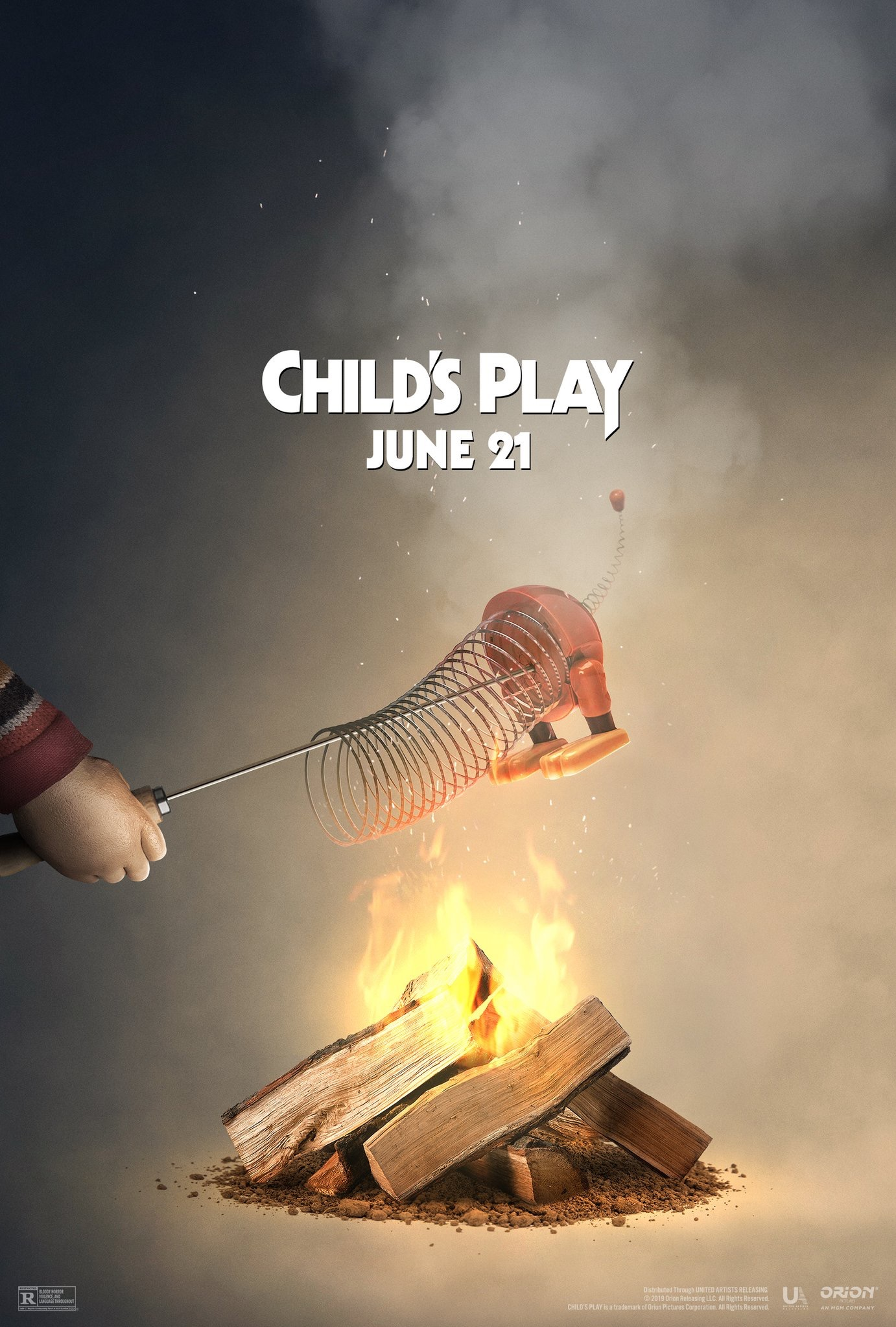 Chucky Roasts Slinky From Toy Story Over A Fire In A New