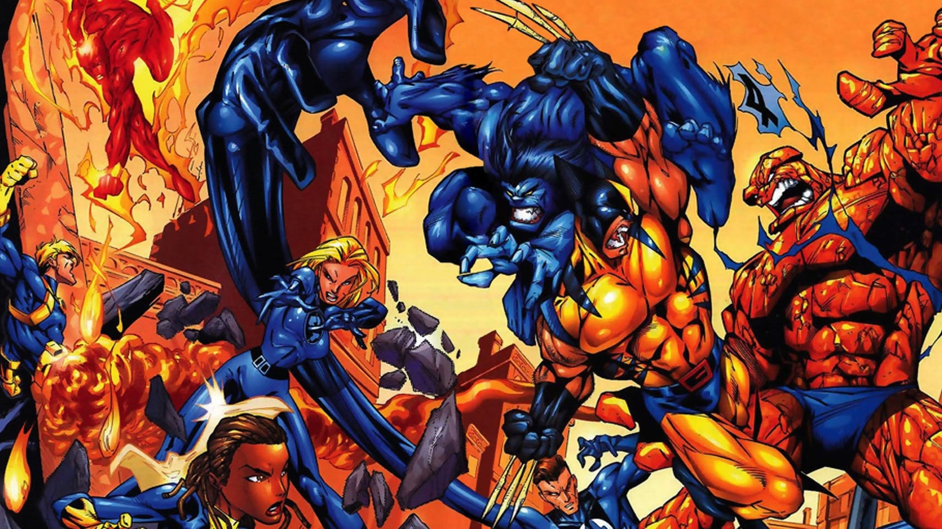 Image result for x-men vs fantastic four